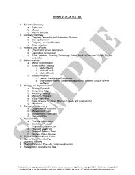 Outline Of A Real Estate Business Planindiana Legal Forms
