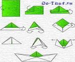 Поделки из бумаге кораблик видео 19