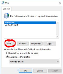 Create Outlook Create A New Profile In Outlook 2016 Windows 10