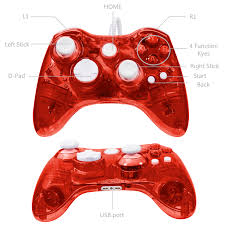 luxmo afterglow usb wired controller gamepad for microsoft xbox 360 console pc win 7 8 10 red walmart
