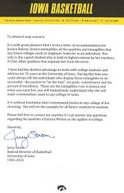 letter of recommendation for athletic training program college letter of recommendation