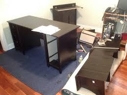 charming dark wooden desk by sauder furniture for home office furniture ideas