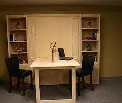 murphy bed office. Plain Bed Murphy Bed With A Bar Height Desk And Bed Office