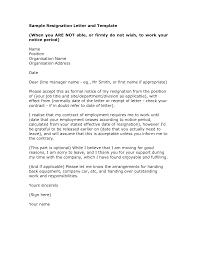 Resignation Letter Example Good Formal Resignation Letter