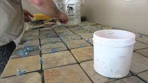 slate tile counter top installation