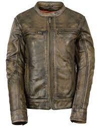 zoomed image milwaukee leather women s brown distressed vented scooter jacket black tan