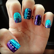 Purple And Teal Nail Designs Best Nail Art Designs For This Week Teal Nails Nail