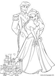 Small Picture ariel and eric with wedding gifts disney princess s64c7 Coloring
