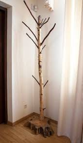 White Standing Coat Rack tree trunk painted white as coat rack Wood Logs Sticks and Twigs 23