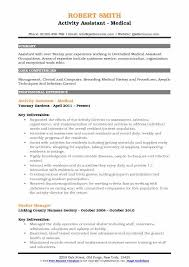 Activities Aide Sample Resume Classy Activity Assistant Resume Samples QwikResume