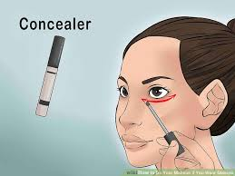 image led do your makeup if you wear gles step 2