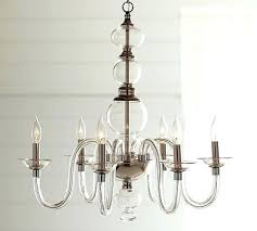 decoration blown glass chandelier elena wood bead pottery barn