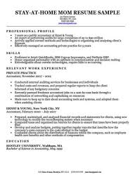 Stay At Home Mom Cover Letter Sample Resumecompanion
