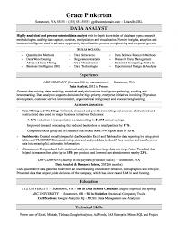 Resume Examples Data Analyst