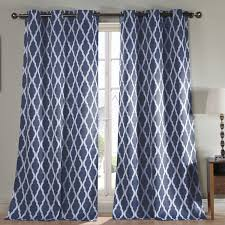 Navy And White Curtains Navy Blue Curtains