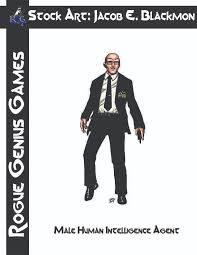 Stock Art Blackmon Male Human Intelligence Agent Rogue Genius