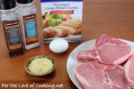 italian panko and parmesan crusted pork