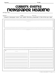 Powerpoint Newspaper Clipping Template Newspaper Article Assignment Template