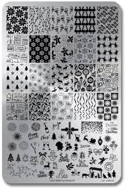 Lina Nail Art Supplies Stamping Plate – Can't Wait For Xmas 01 ...