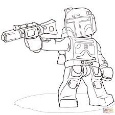Small Picture Lego Star Wars Boba Fett coloring page Free Printable Coloring Pages