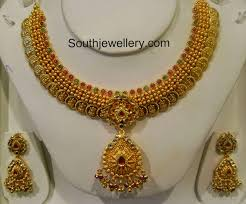 Kasulaperu Earrings Designs Antique Kasulaperu Necklace Indian Jewellery Designs