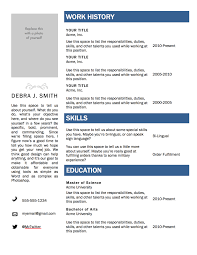 Free Templates Resumes Microsoft Word Resume Work Template