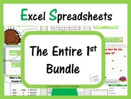 Microsoft Lesson Plans Microsoft Excel Spreadsheets The Entire First Lesson Plans Bundle