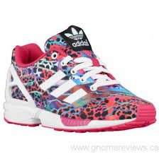 adidas running shoes for girls. girls\u0027 - adidas originals zx flux preschool running shoes white/white/bold pink for girls