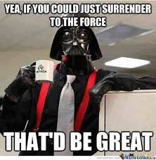 Peaceful Vader by x_sublimezz_x - Meme Center via Relatably.com