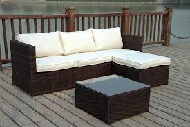 new rattan wicker conservatory outdoor garden furniture set corner sofa table ebay