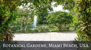botanical gardens miami beach usa miami
