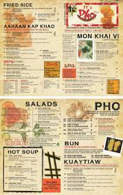 To Go Menu Templates Vietnamese Restaurant To Go Menu Design And Printing Www Inprintla