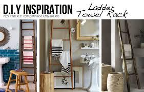 towel hanger ideas. Ladders Make Awesome Towel Racks Hanger Ideas