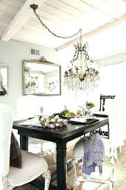 height of chandelier over dining table proper