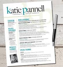 Fair Sample Creative Resume Templates For The Katie Lyn Signature