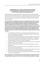 conclusions and recommendations adapting to the impacts of page 229