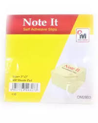 Office Master Sticky Notes Post It Memo Pad 76 X 76 Mm 400 Notes