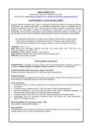 Resume Java Developer Example Virtren Com