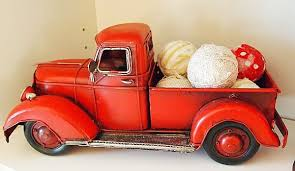 red truck filled with rag