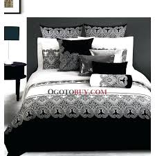 black and white bed covers art bedroom design with queen size black white fl bedding set
