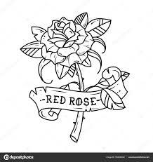 Tetování Růže S Mašlí Láska Vášeň Stock Vektor Natalypaint