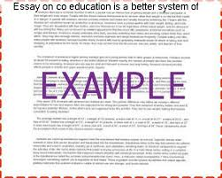 essay on co education is a better system of education college  essay on co education is a better system of education