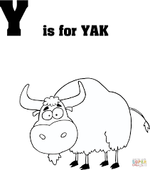 Letter Y is for Yak coloring page | Free Printable Coloring Pages