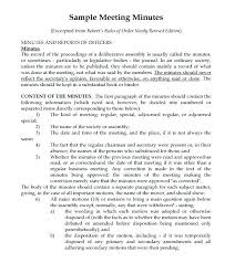 Format For Minutes Writing Writing Meeting Minutes Template Sample Summary Free For A 7