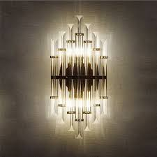 led e14 Nordic Iron Crystal Designer LED Lamp LED Light Wall lamp