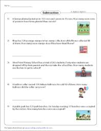 Question 2 the price of a hamburger is 3 dollars. Subtraction Word Problems Worksheets