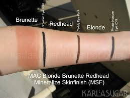Mac redhead blonde brunette collection