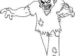 Scary Zombie Coloring Pages Coloring Home Zombie Coloring Pages