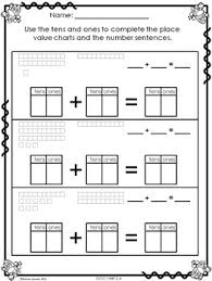 Place Value Chart For 1st Grade Math Worksheets 1st Grade Place Value Plus 1 Minus 1 Plus 10 Minus 10