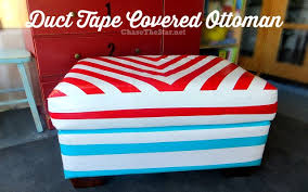 Duct tape furniture Bailing Wire Duct Tape Covered Ottoman Via Chase The Star duckbrand ducttape ducttapefurniture furnituremakeover Hello Life Duct Tape Covered Ottoman